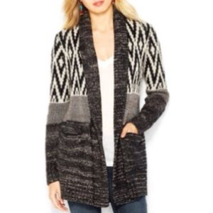 [ Lucky Brand ] Black and white open cardigan